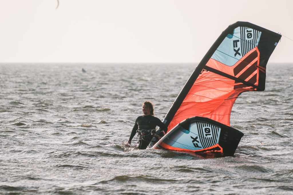 Kitesurfer zlatawcem